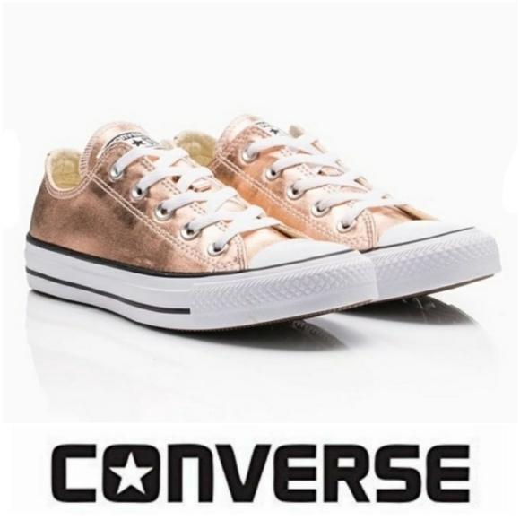 Converse Shoes | Metallic Rose Gold